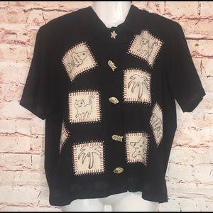 Vintage country Casuals 1999 Appliqué Button Up-PM